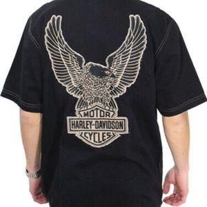 Harley-Davidson Genuine Mens Eagle Washed 2X Shirt